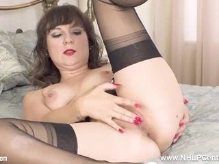 Insane brown-haired Cherri drains for you in sheer ebony nylons and heels|17::Fetish,20::MILF,25::Masturbation,38::HD,57::brown-haired