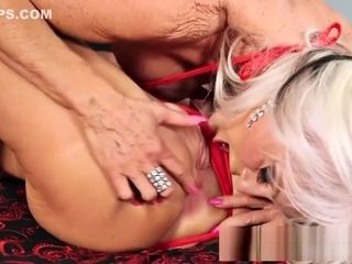 Fortunate guy banged 2 promiscuous Matures