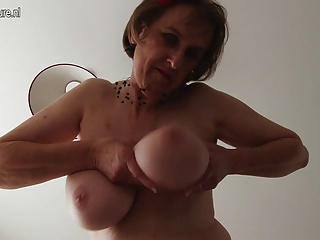 Dirty mother with big tits