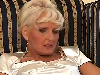 The golden shower hour with horny granny a young dude