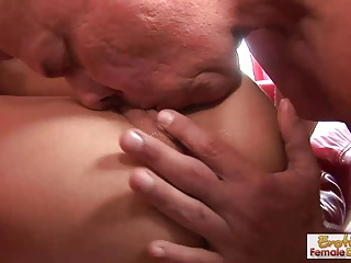 Tight-bodied MILF housewife rides a monster cock