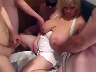 Giant breasted and mature take facial cumshot spunk
