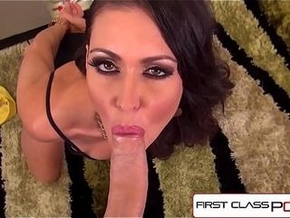 FirstClassPOV - Jessica Jaymes deep throating a monster dick, large mounds &amp_ large arse