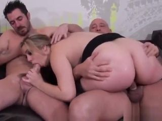 Supah supah-sexy big-titted French cougar five