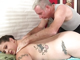 Inked MILF BBW Kailie Raynes Enjoys a Toy Enhanced Rubdown