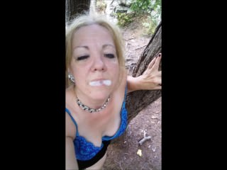 Huge Load of Cum I caught Down by the Lake