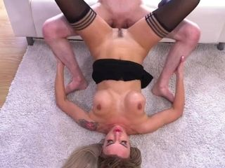 Mummy light-haired Russian cougar Elen Million bj and piledriver smash