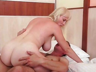 Grandmas and Young Men Hot Sex Compilation