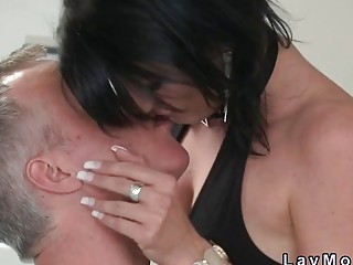Old couple showing sex skills