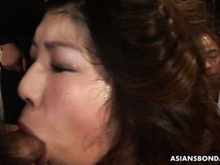 Bawdy Japanese housewife Aoi Wajo gets mouthfucked germane close to put emphasize kitchenette