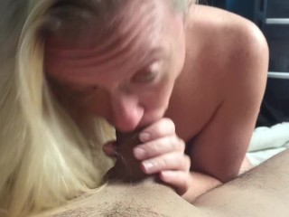 Marvelous pbrazilianum-blonde gives brazilian hard-on morning muddy bj and drinks a hotload