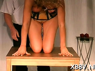 Obscene gal gets boobies torment gonzo in tough domination & submission vid