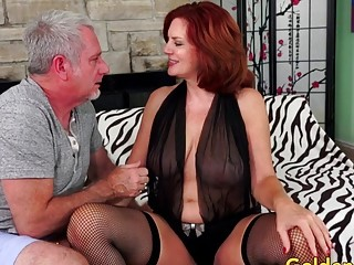 Redheaded Mature stunner Andi James Has molten fuckfest with a sultry senior stud