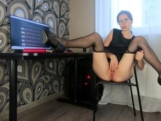 Milf Secretary Fucked Herself To Squirt - CatherineRain