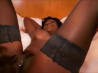 black milf gets anal by white dude and white milf helps out