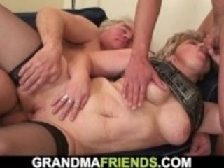 """Horny old grandmother double penetration"""