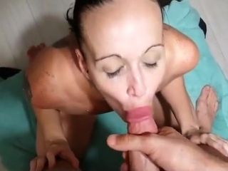 Awesome fledgling facial cumshot popshot, brown-haired, roleplay adult video