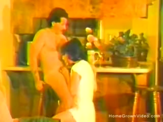 Antique homemade plow movie with diminutive wifey