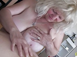 OldNannY Matures toying with Hardened fuck-stick