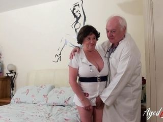 AgedLovE big-boobed Nurse hard-core with crazy physician