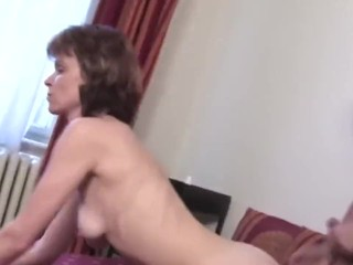 mature moms try group sex with single son