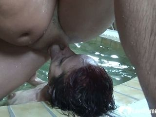 Enslaved mature wifey is predominated by his manmeat