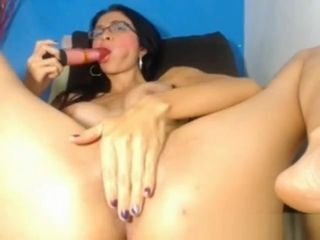 Huge-titted cougar ravages herself rock-hard with fake penis on web cam