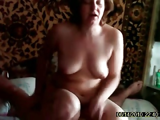 Wife Fucks with her husband sitting on his cock