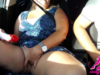 While he drives I have fun with my smoothly-shaven pussy|1::Big hooters,6::Amateur,11::Public,20::MILF,25::Masturbation,38::HD,46::Verified Amateurs
