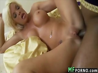 Hot blonde drilled by black dick Jordan Blue 4