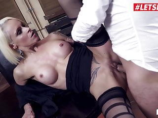 LETSDOEIT - sumptuous German cougar steaming Office pummel with chief