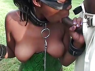 rough african milf threesome outdoor fucked