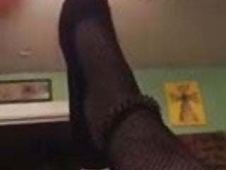 My wifes sole in pantyhose and flats when shes pounded